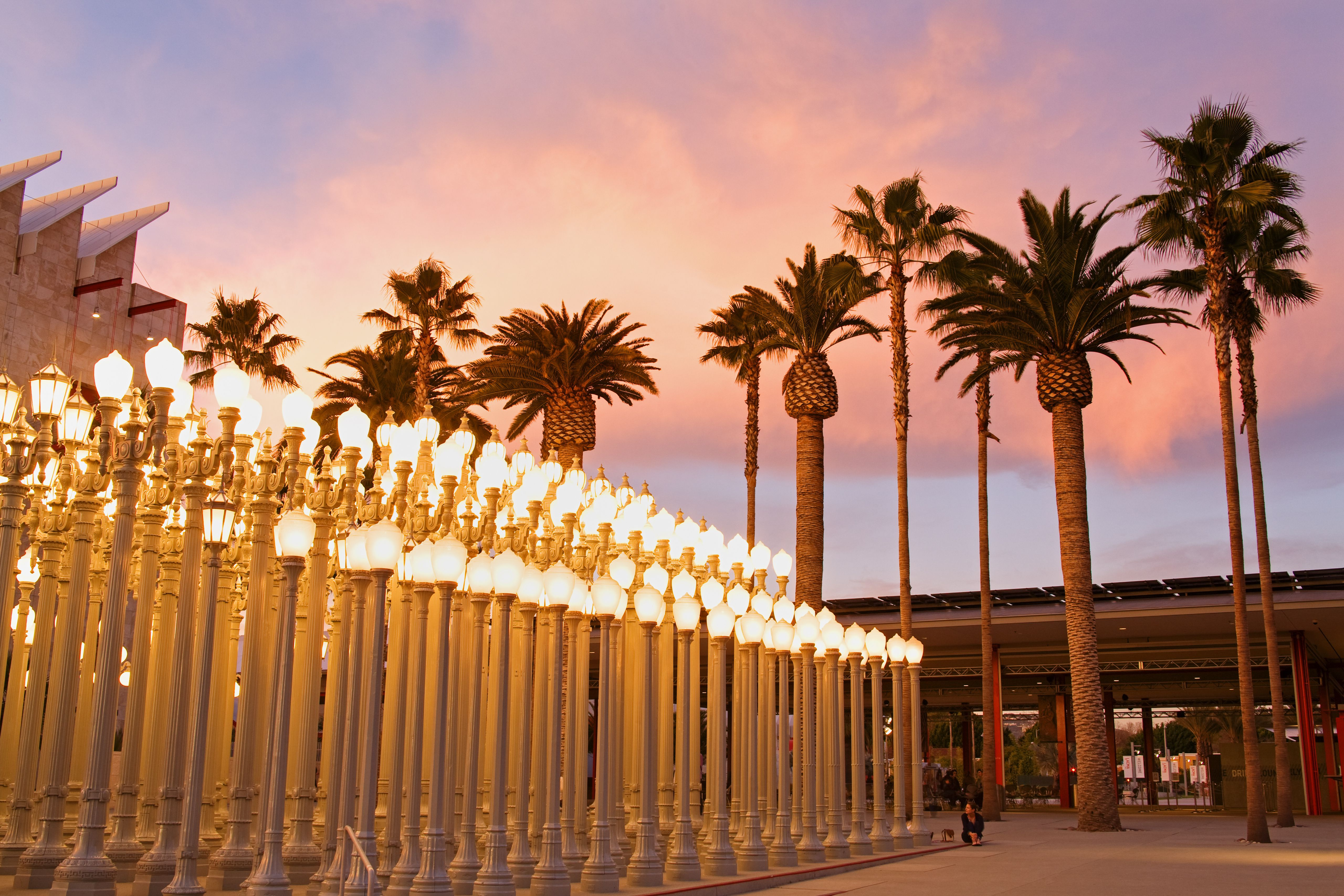 Urban Light by Chris Burden outside Los Angeles County Museum of Art.