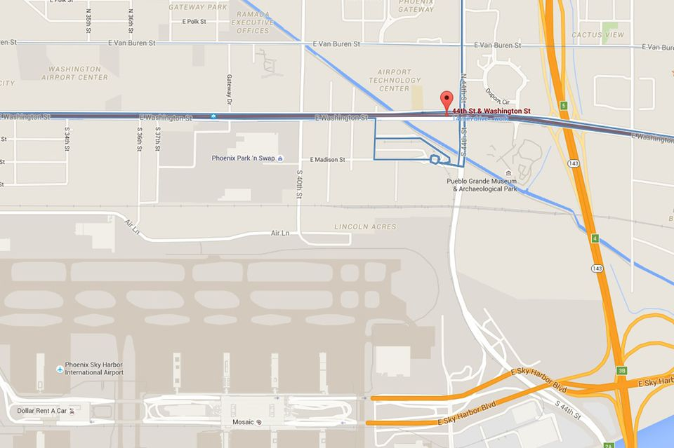 PHX Sky Train Address, Map and Directions