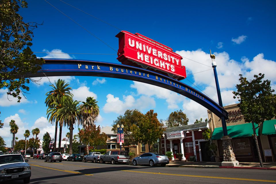 University Heights Neighborhood of San Diego