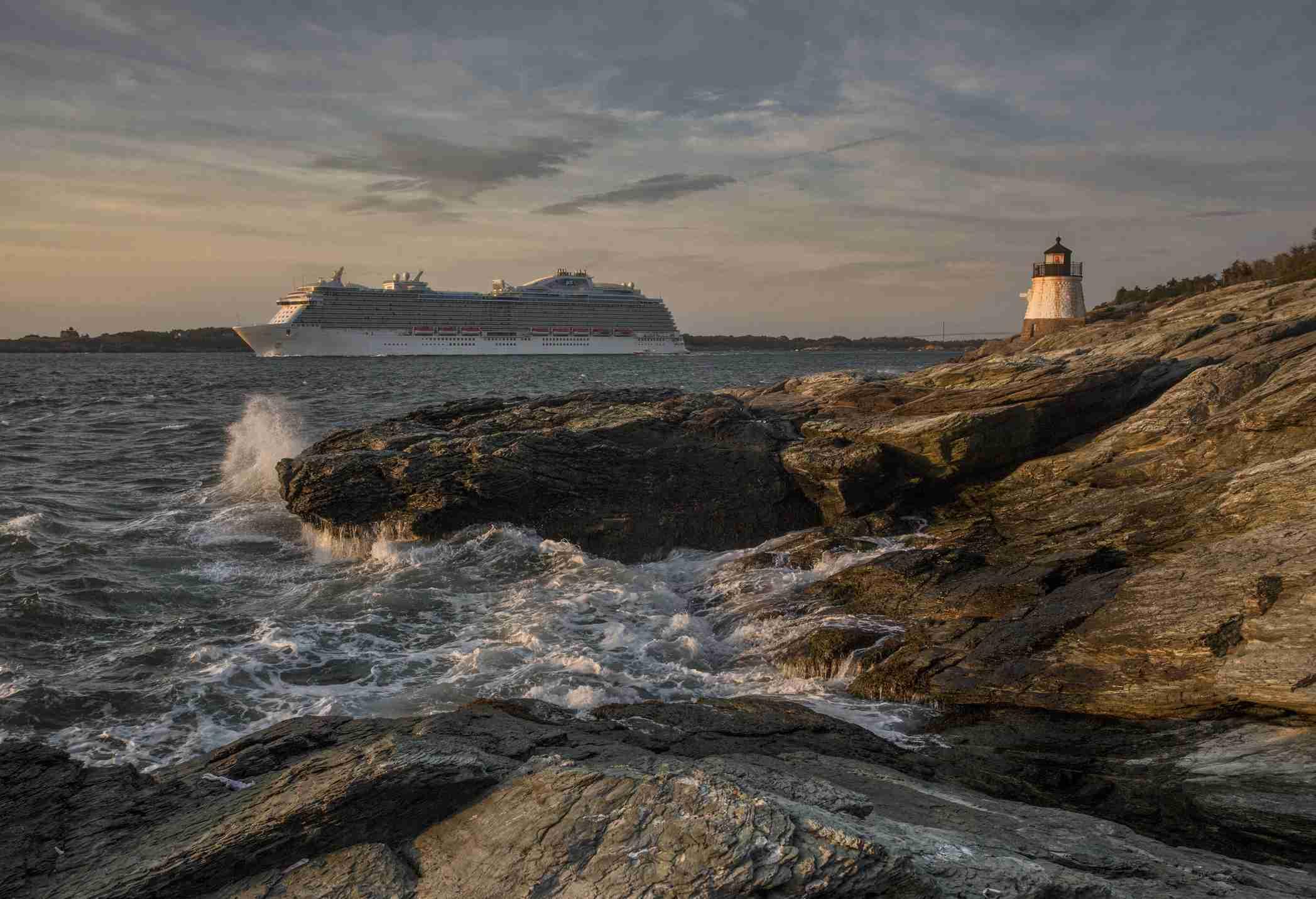 cruise ship leaving Newport, RI