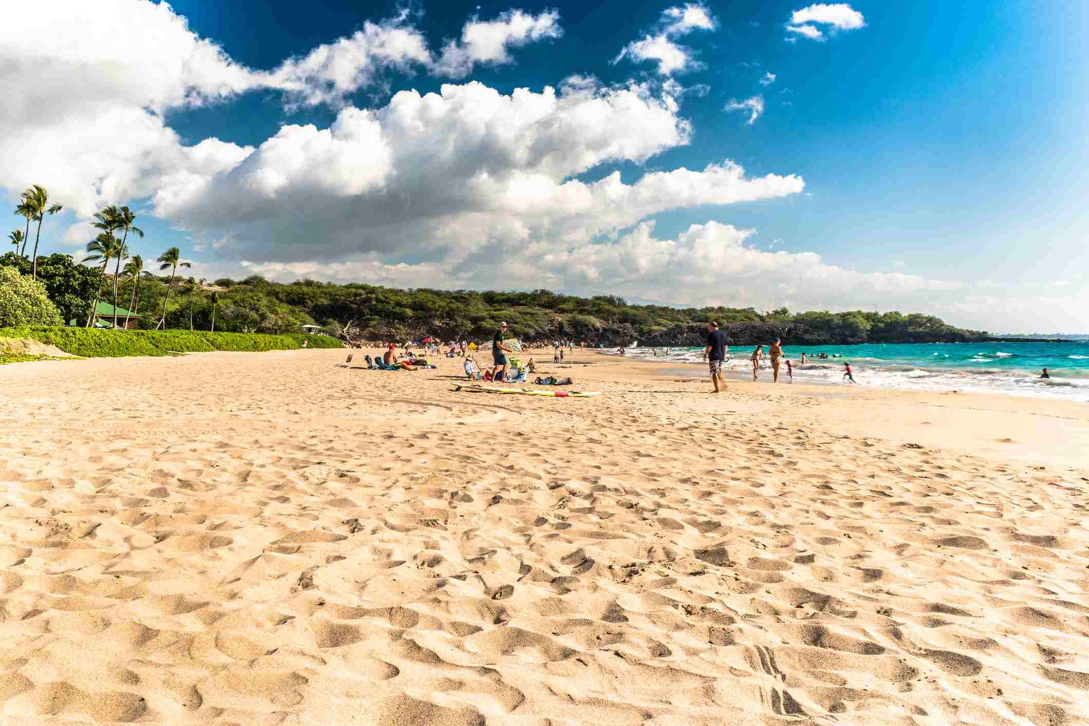 Hapuna Beach in Hawaii.