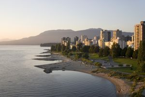 A beautiful view of west Vancouver, Canada