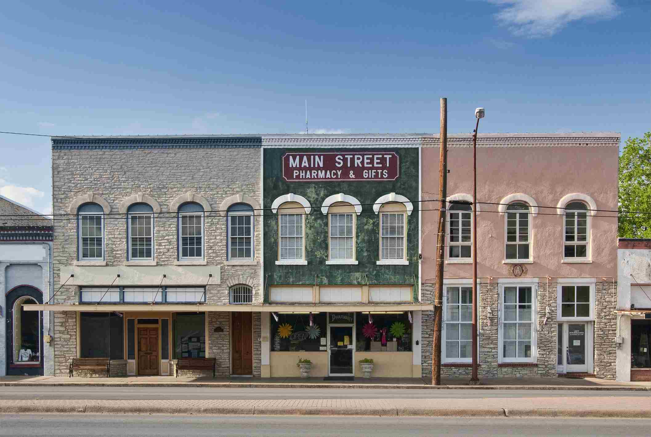 Storefronts in Flatonia, Texas