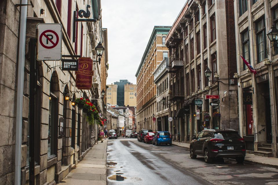 Rue Saint Paul in Old Montreal