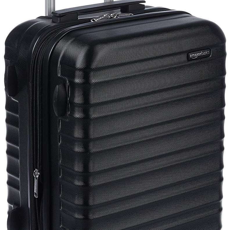 5e1475b289f AmazonBasics Hardside Luggage 20-Inch, Black