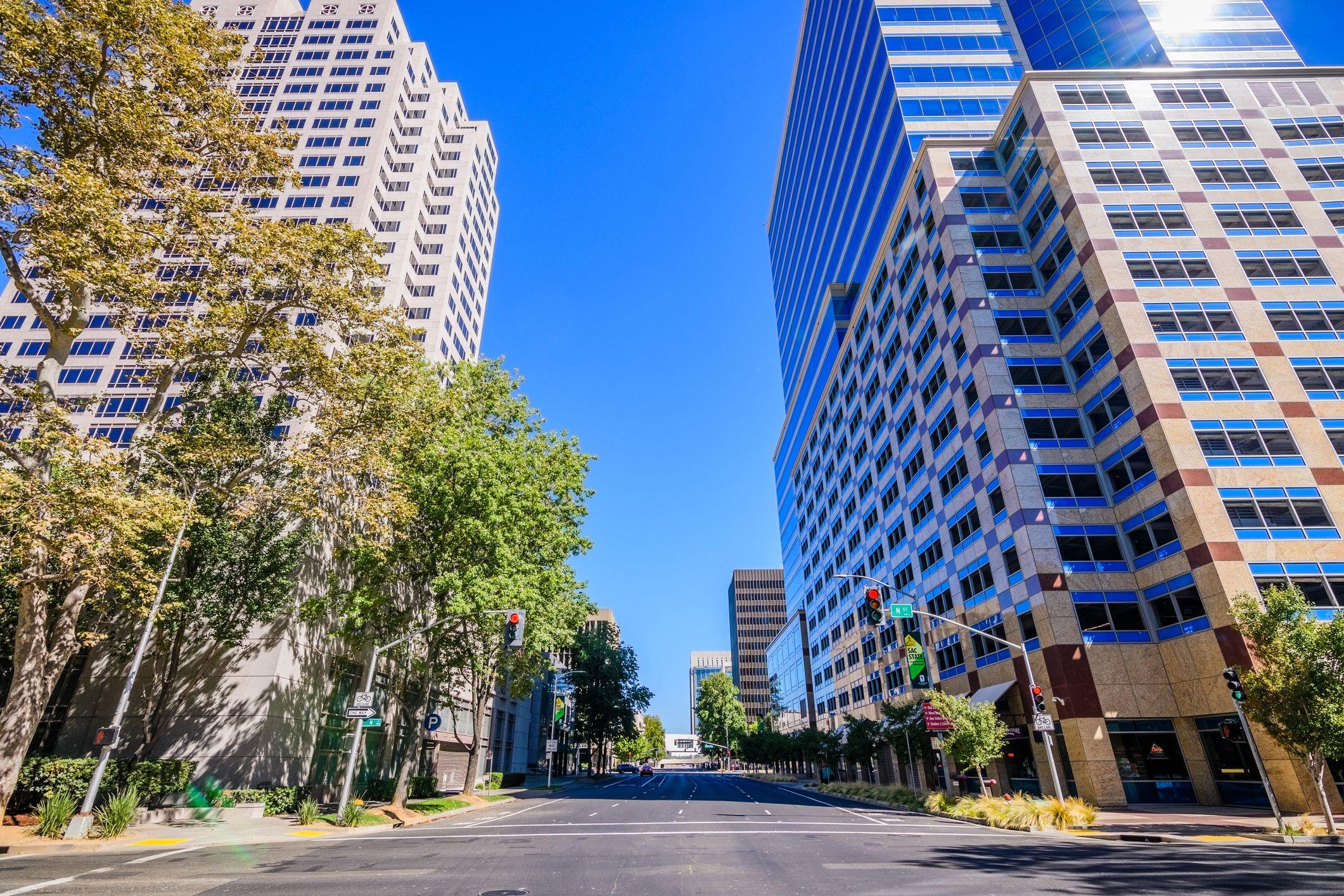 Skyscrapers in downtown Sacramento