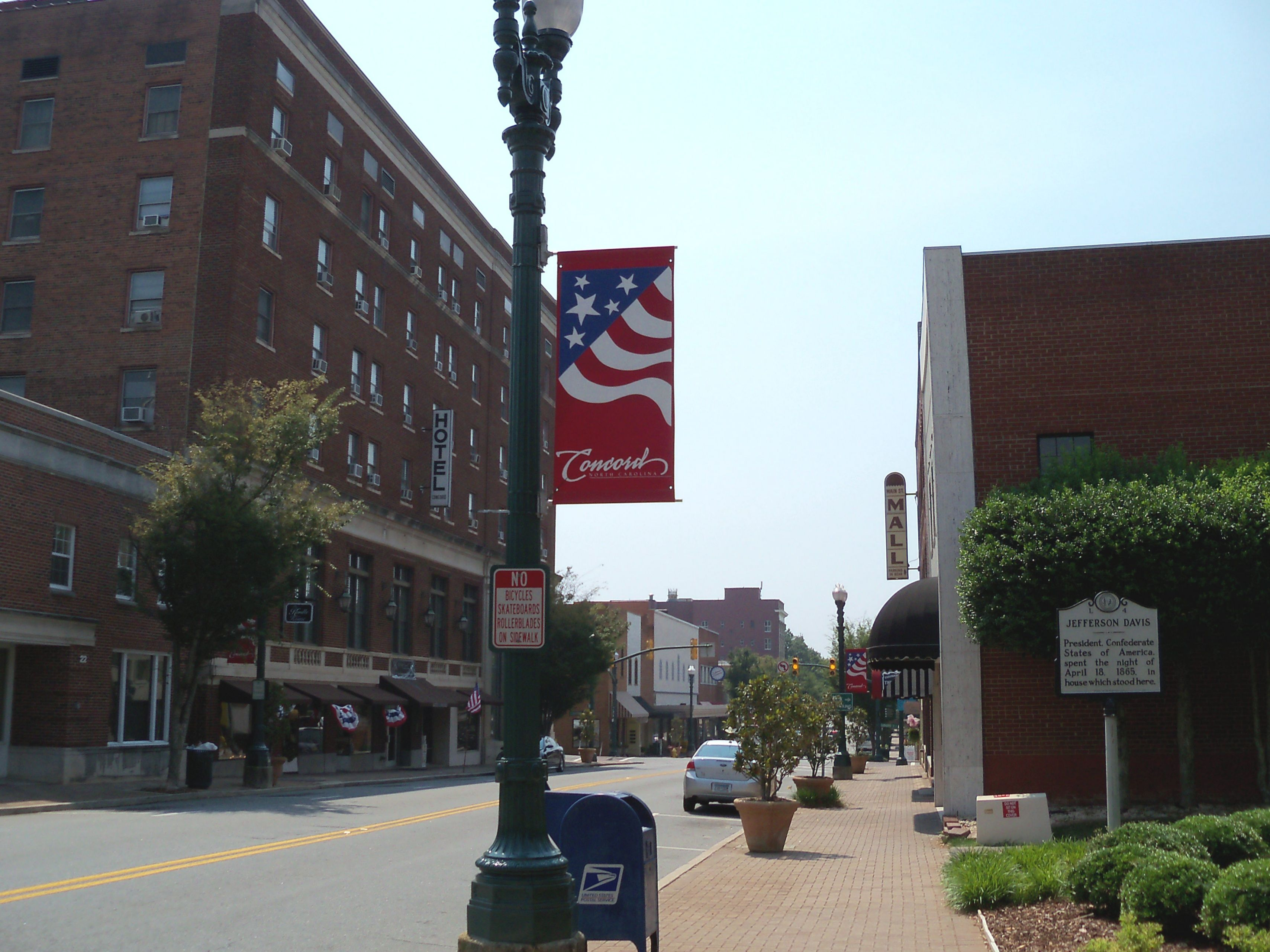 Street in downtown Concord, North Carolina