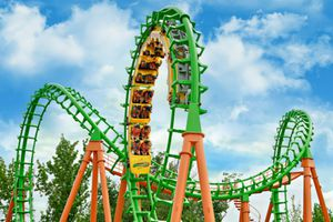 Six Flags Roller Coaster