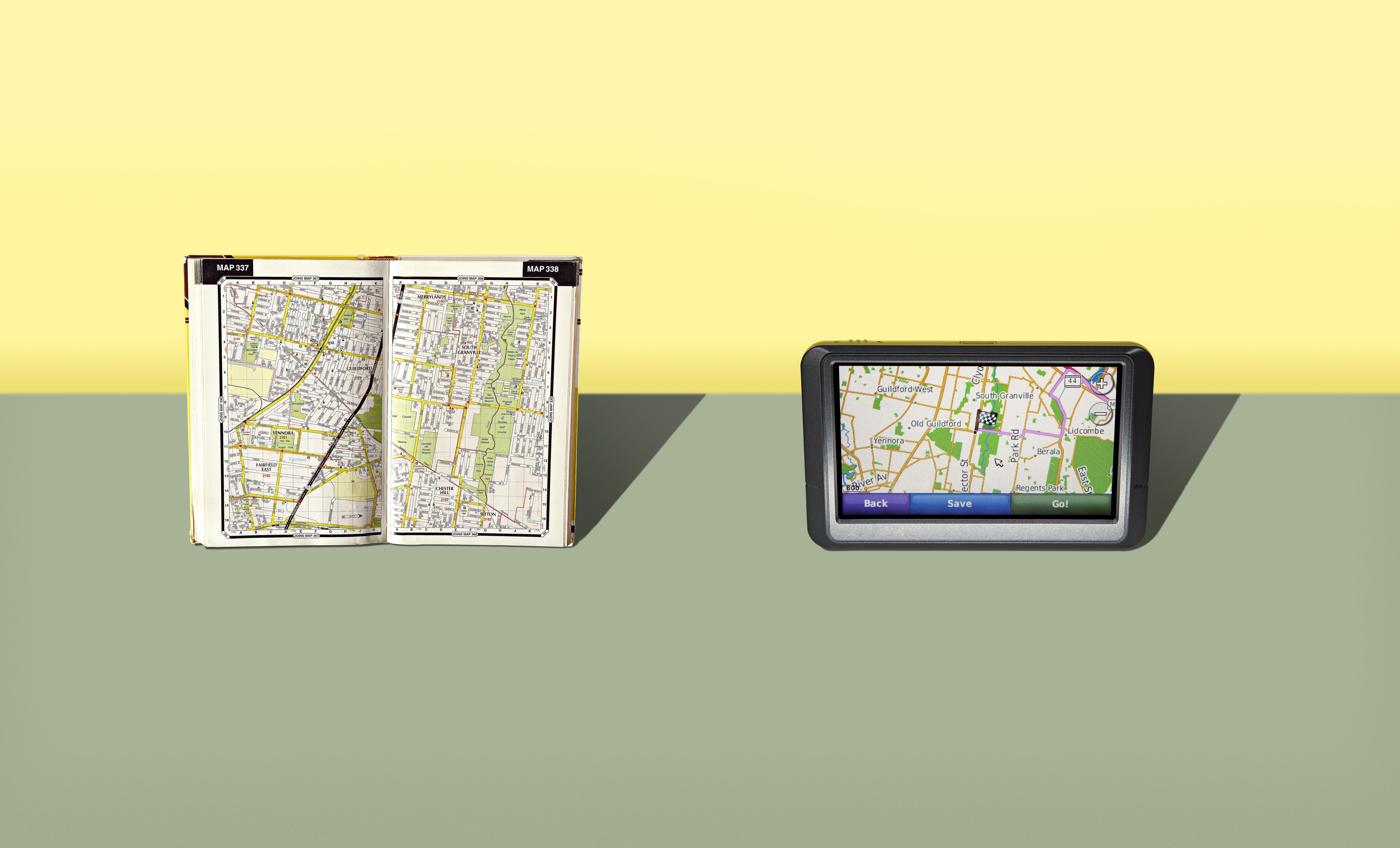 Bring a map or GPS on your trip so you don't get lost.