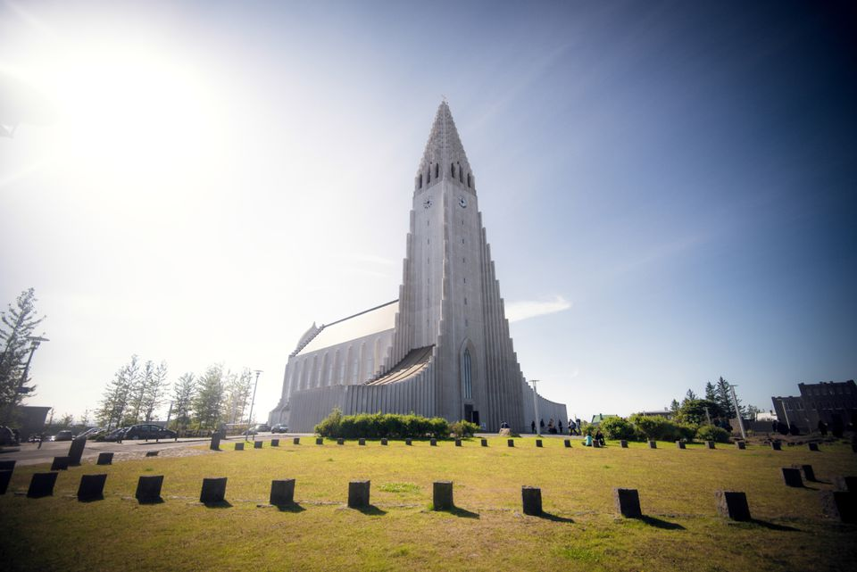 Hallgrimskirkja in Reykjavík, Iceland