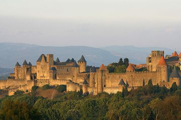 A view of the ancient walled city of Carcassonne