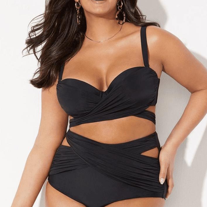 Swimsuits For All GabiFresh Wrap High-Waist Bikini