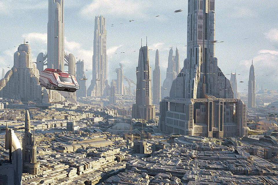 Scene from Star Tours