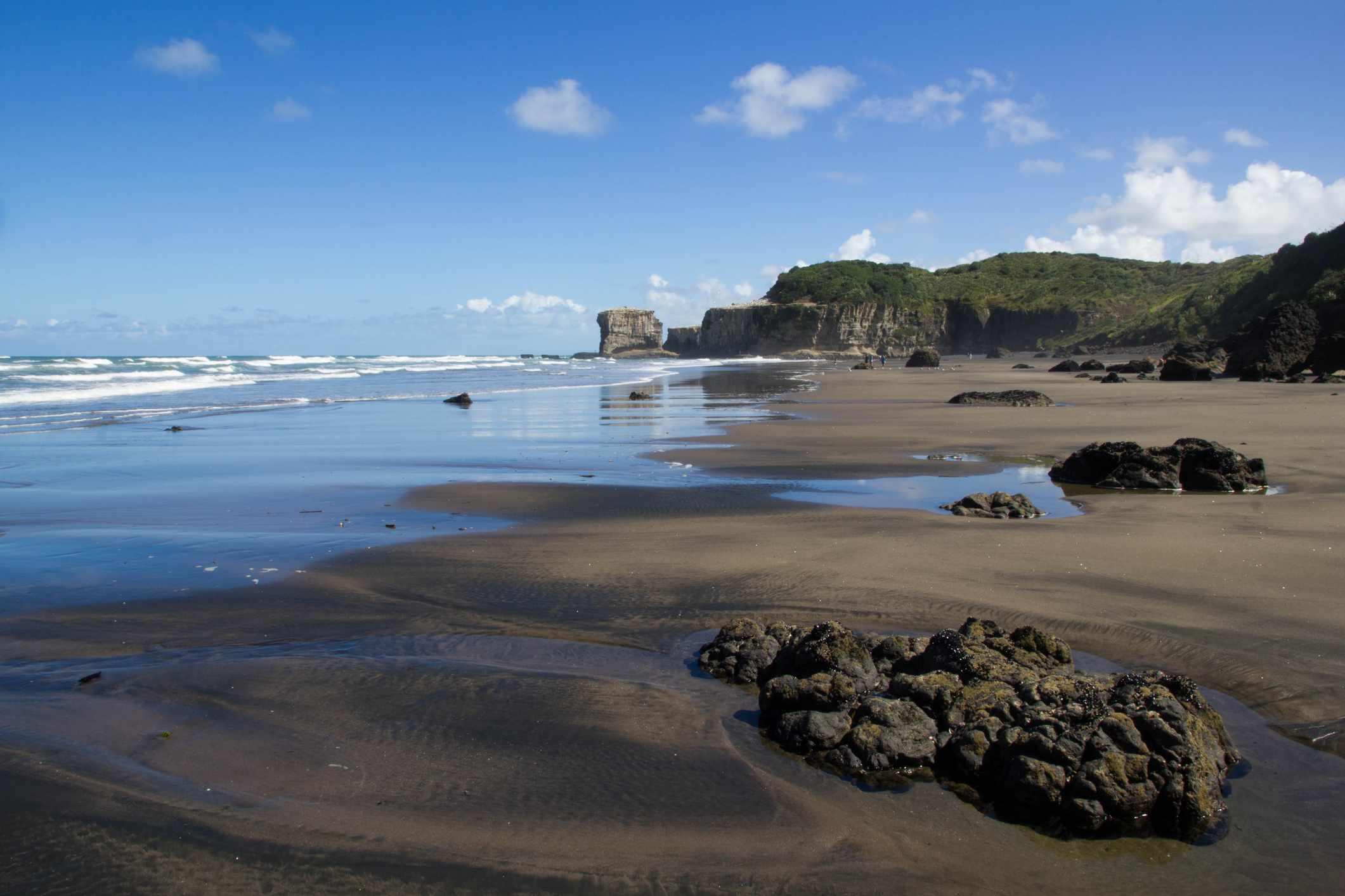 Bahía maorí en Nueva Zelanda