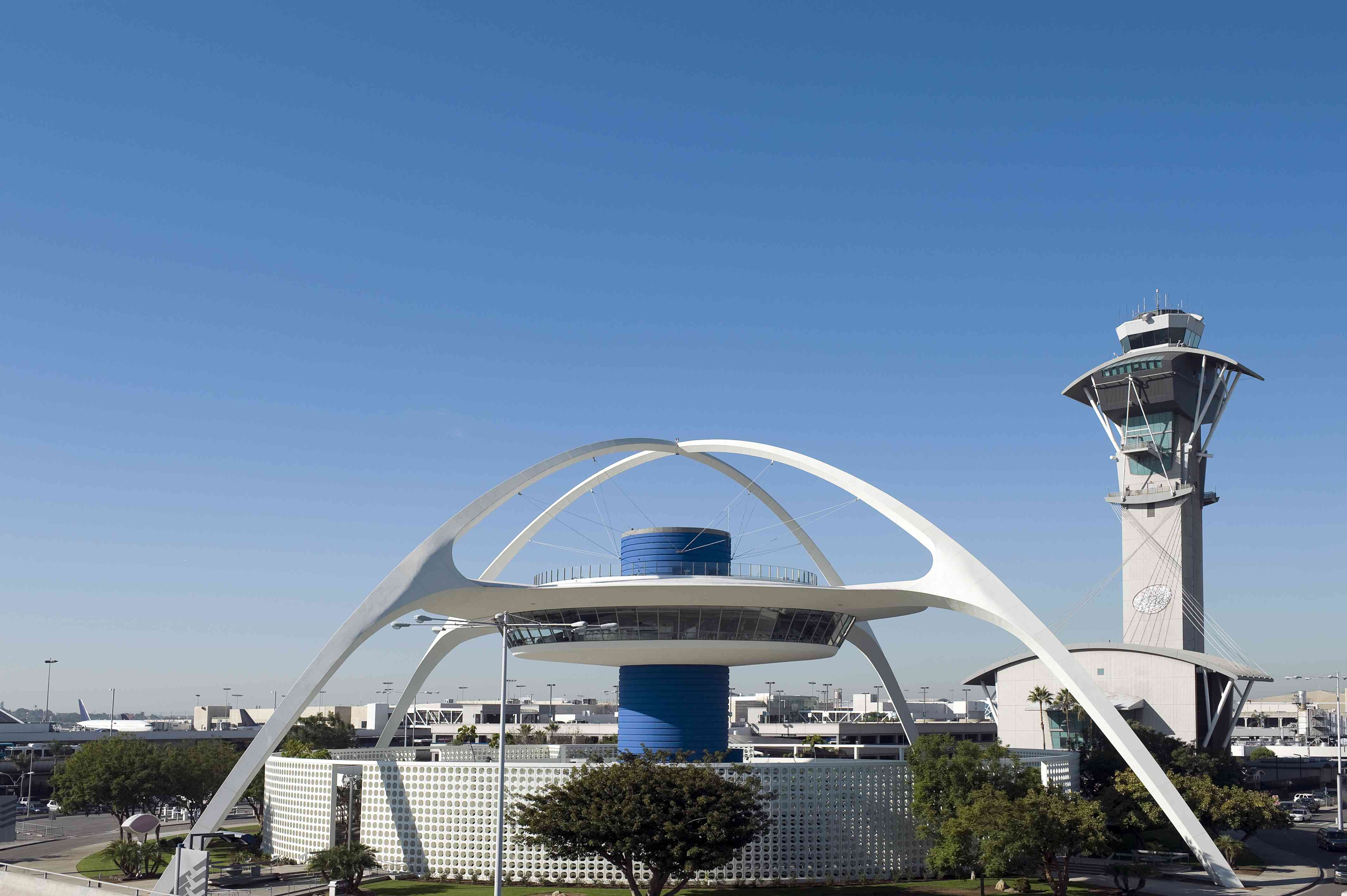Air traffic control towers at Los Angeles international airport