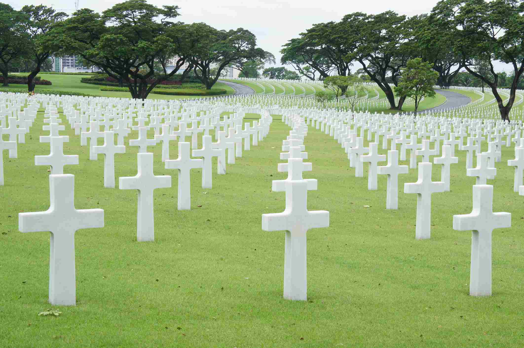 Grounds of Manila American Cemetery, Philippines