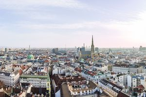 Panorama of Vienna's cityscape