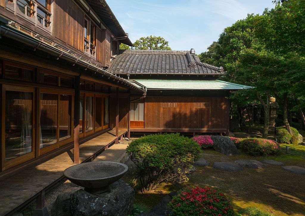 Garden of kyu asakura, a traditional japanese house from taisho era, in Daikanyama, Tokyo