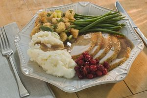 Thankgiving Dinner on a plate