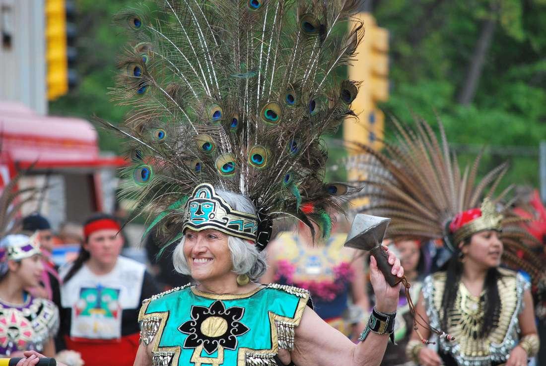 Woman in parade in St. Paul Cinco de Mayo