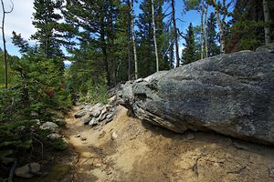 view of a hiking trail in Colorado