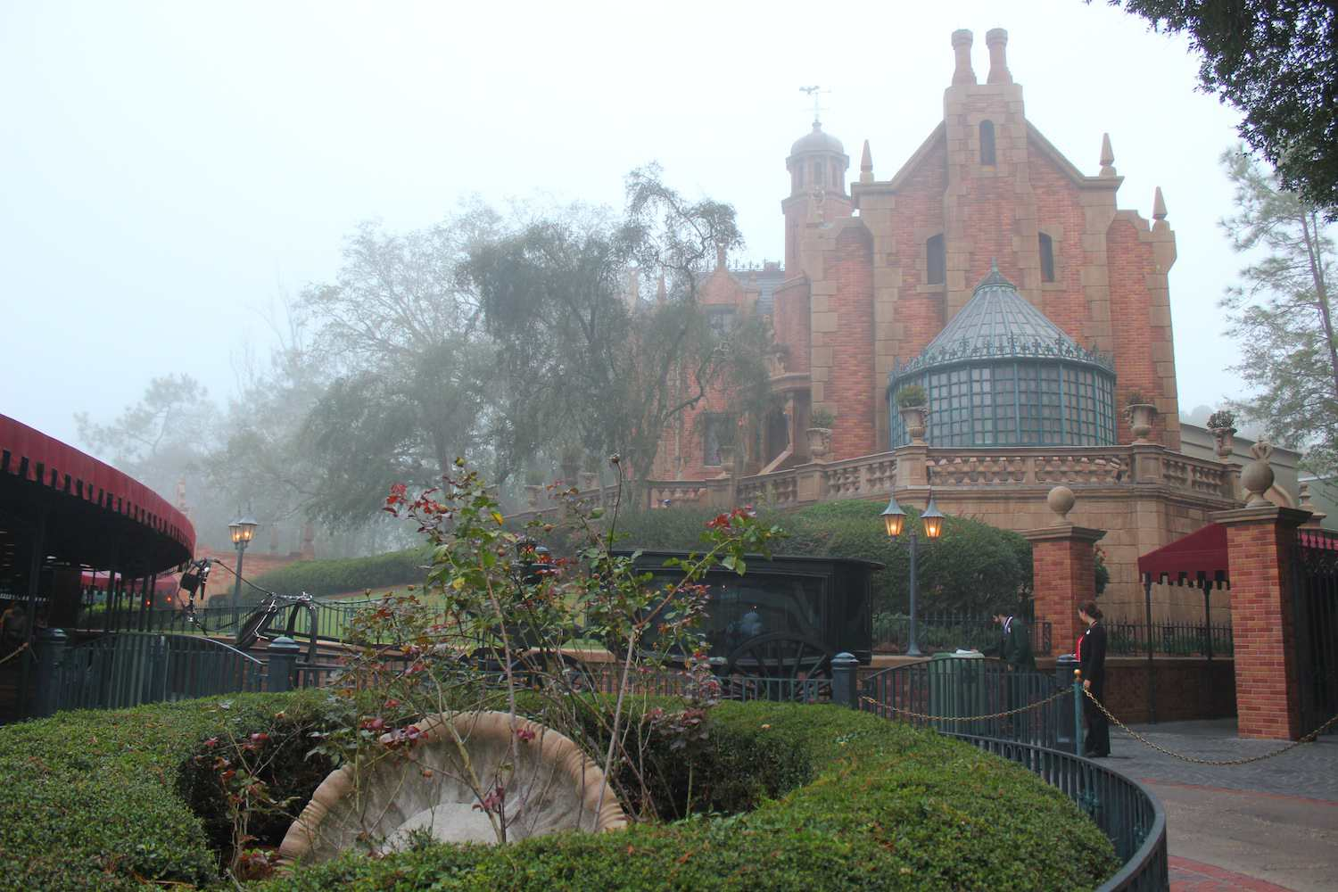 Foggy day at the Haunted Mansion