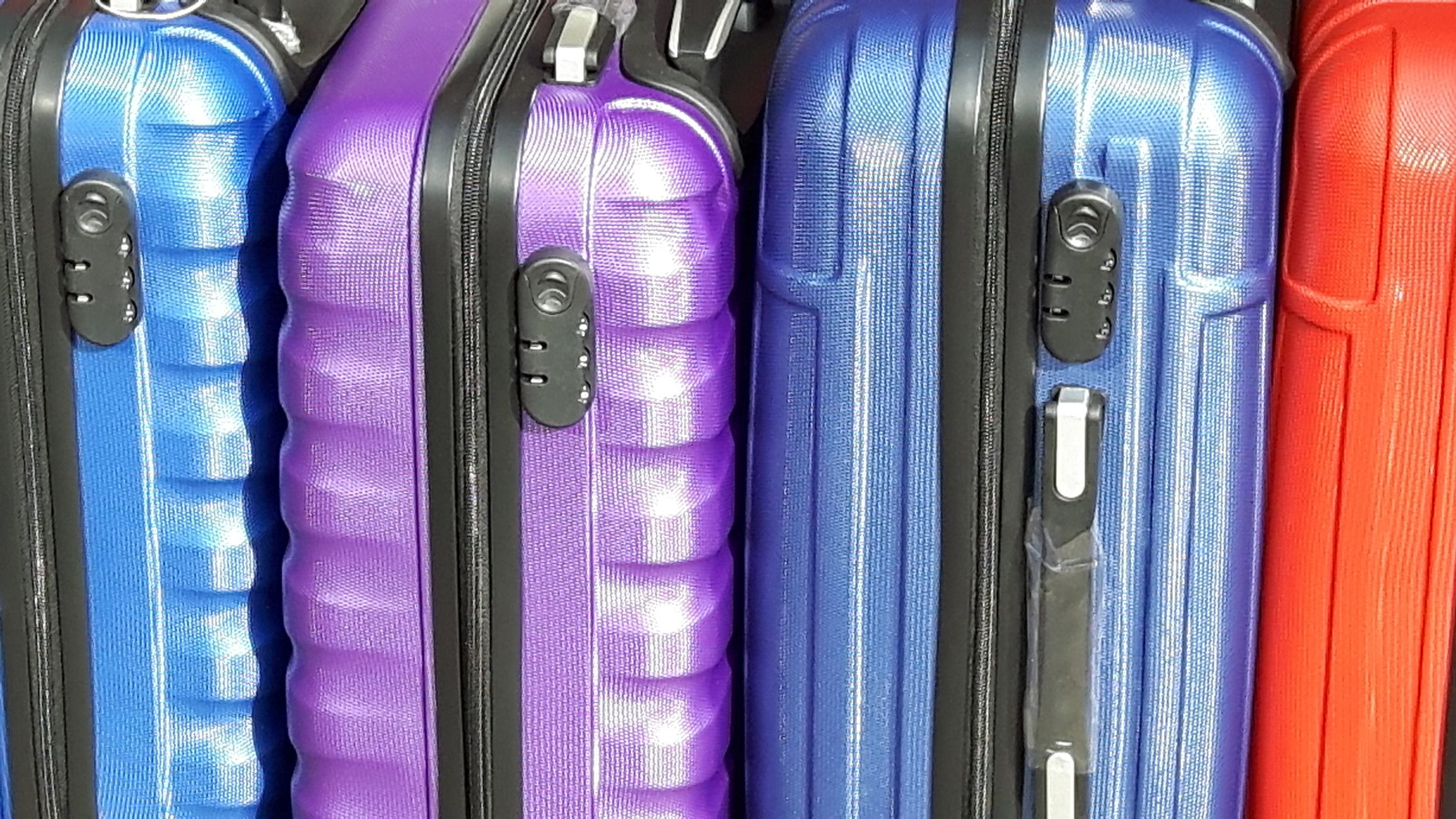Full Frame Shot Of Colorful Luggage