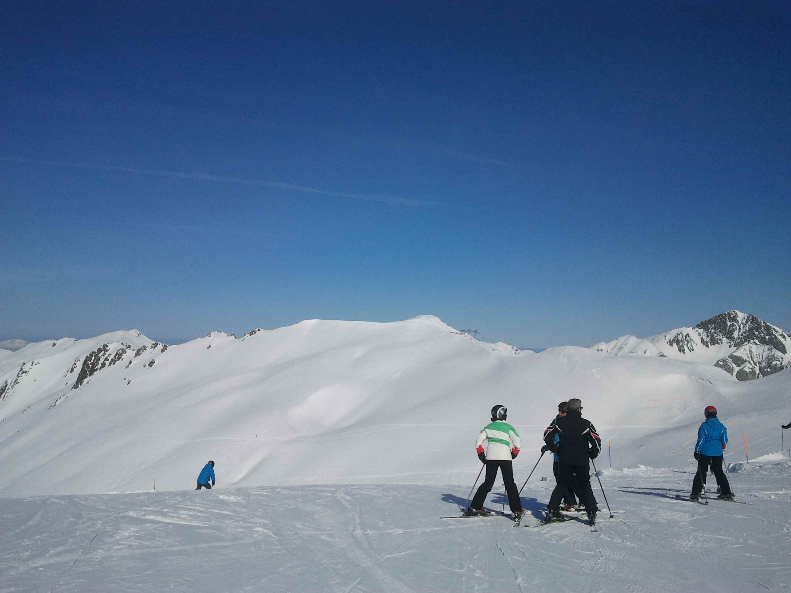 Skiing at San Isidro, Leon, Spain