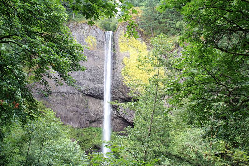 View of LaTourell Falls located along the Historic Columbia River Highway