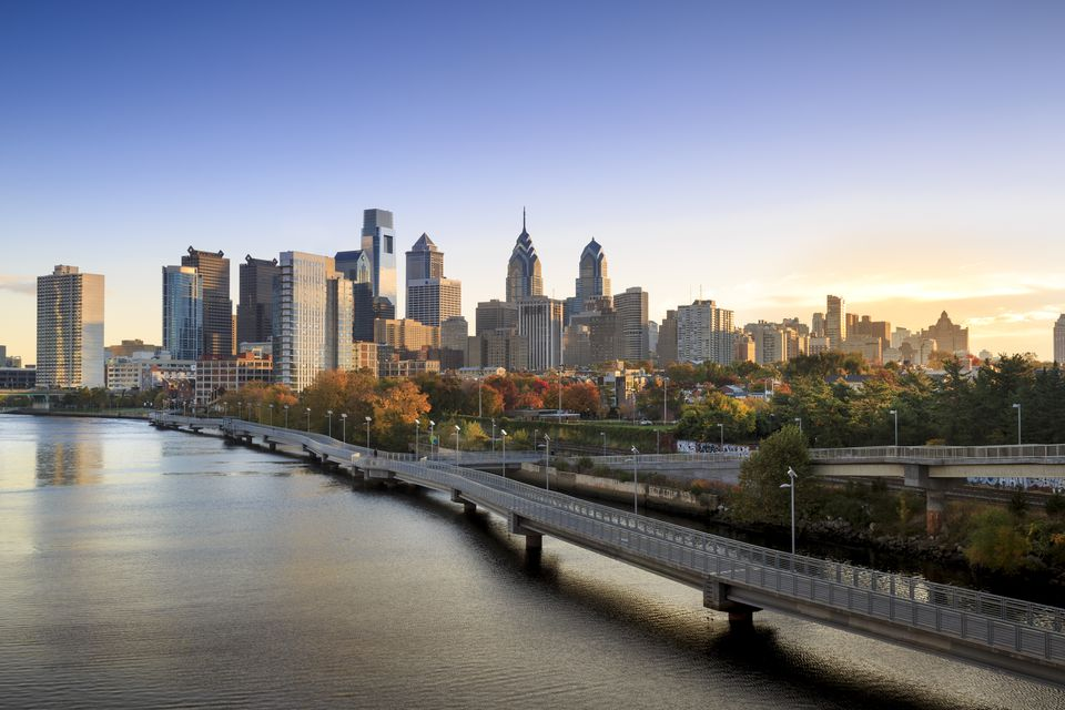 The Philadelphia skyline.