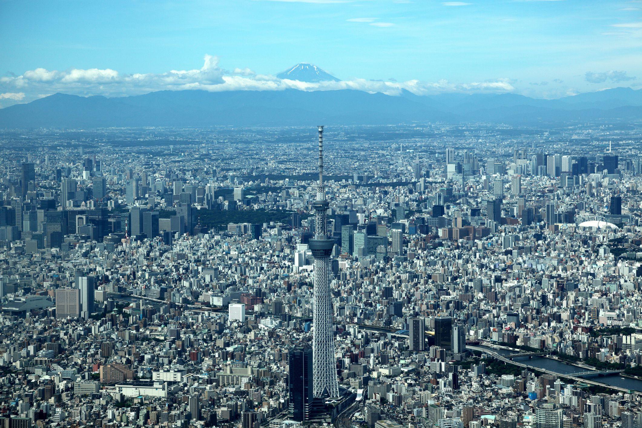 Tokyo Sky Tree and Mt. Fuji