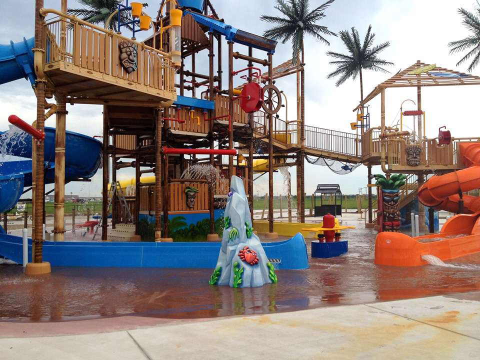 Water playground at Andy Alligator's Fun Park & Water Park