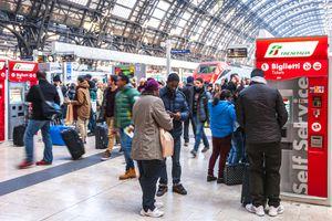Italy train ticket station
