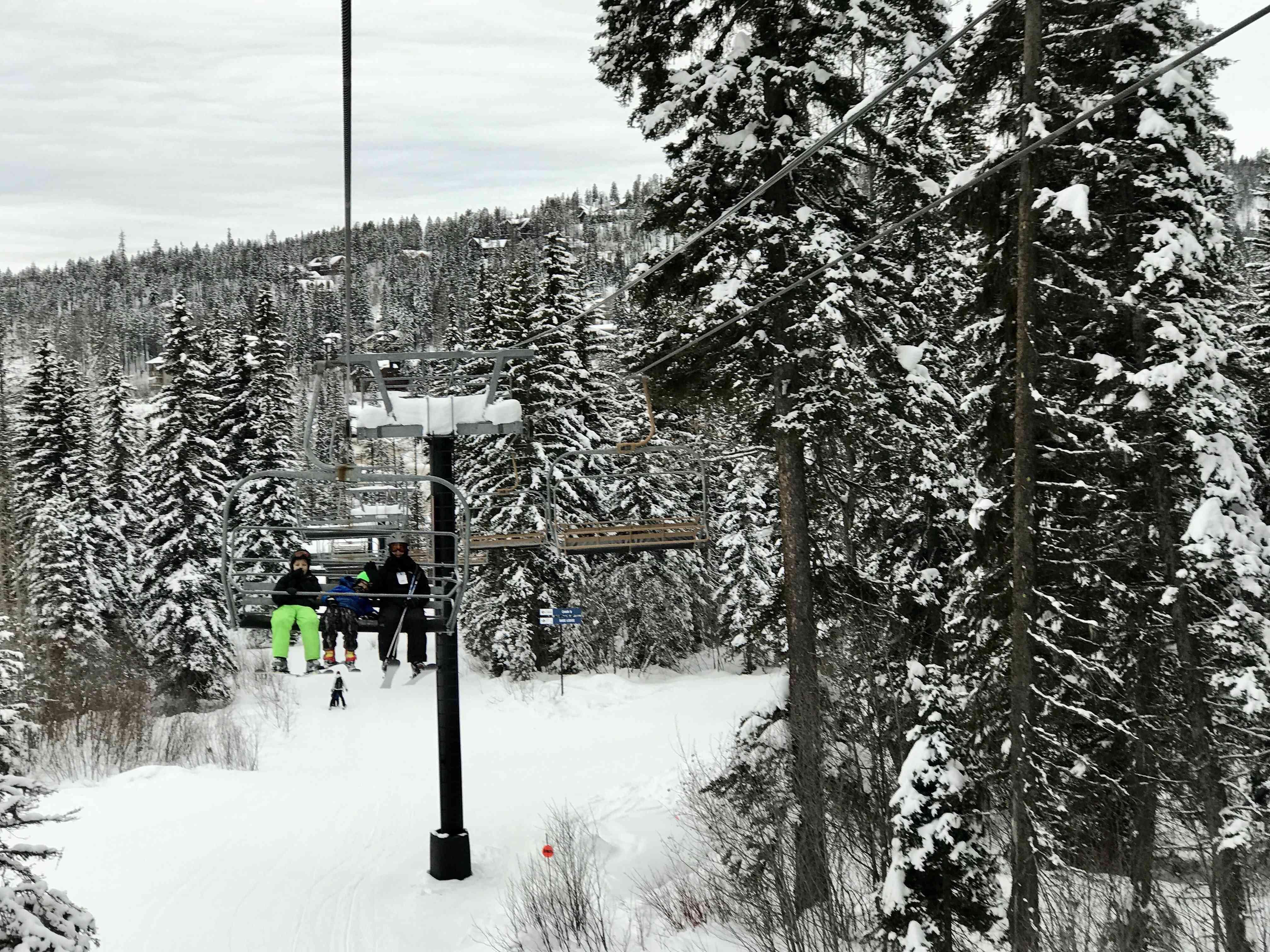 Skiing at Whitefish Mountain Resort