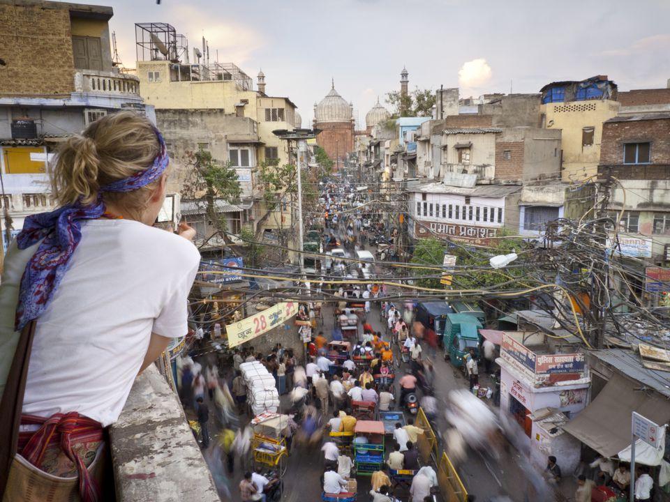 Turista en Delhi.