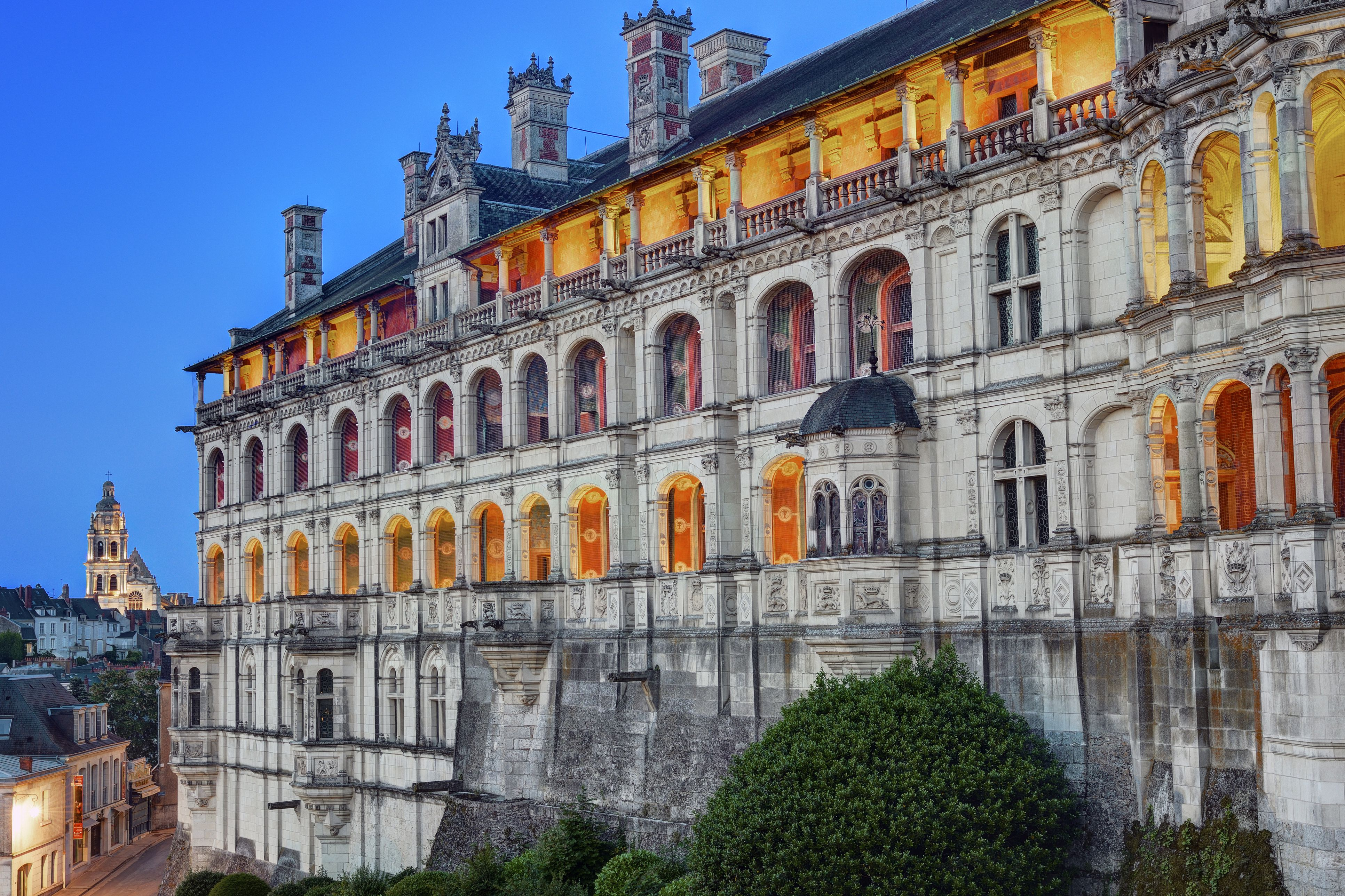France, Loir et Cher, Loire valley listed as World Heritage by UNESCO, Blois, castle of Blois, the Loges facade of Francis I wing