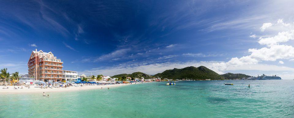 Saint Martin Sint Maarten Beaches Panoramic