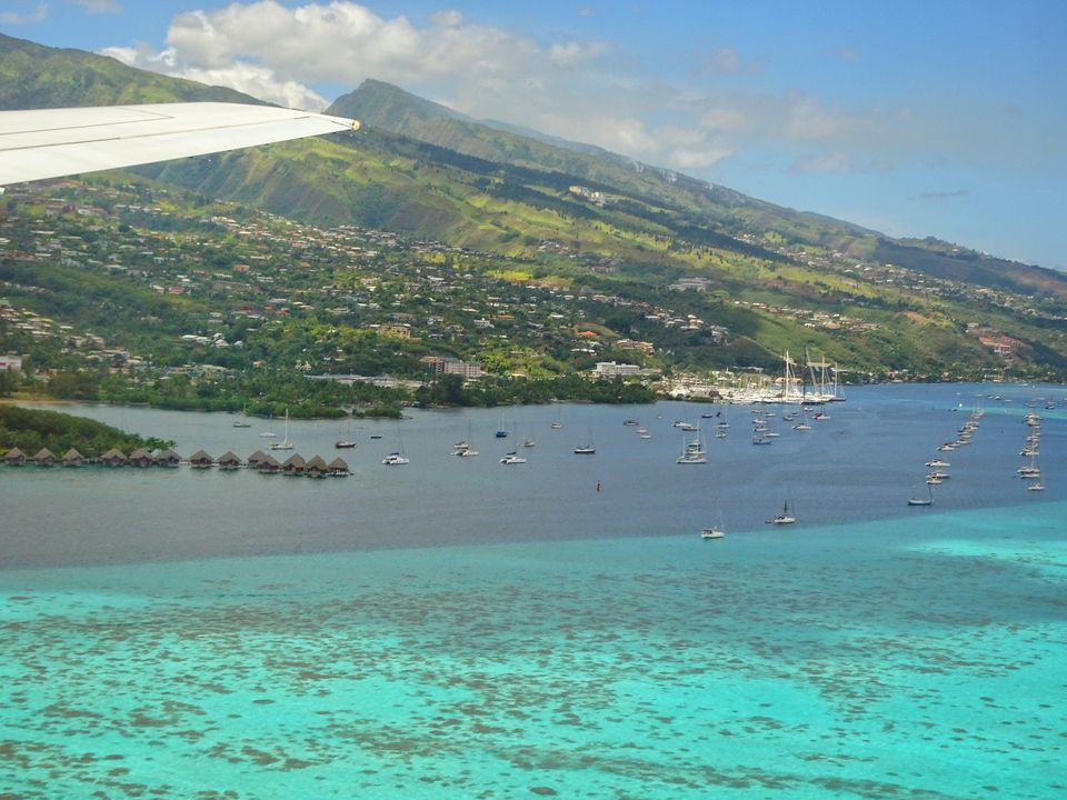 Papeete Tahiti from the air