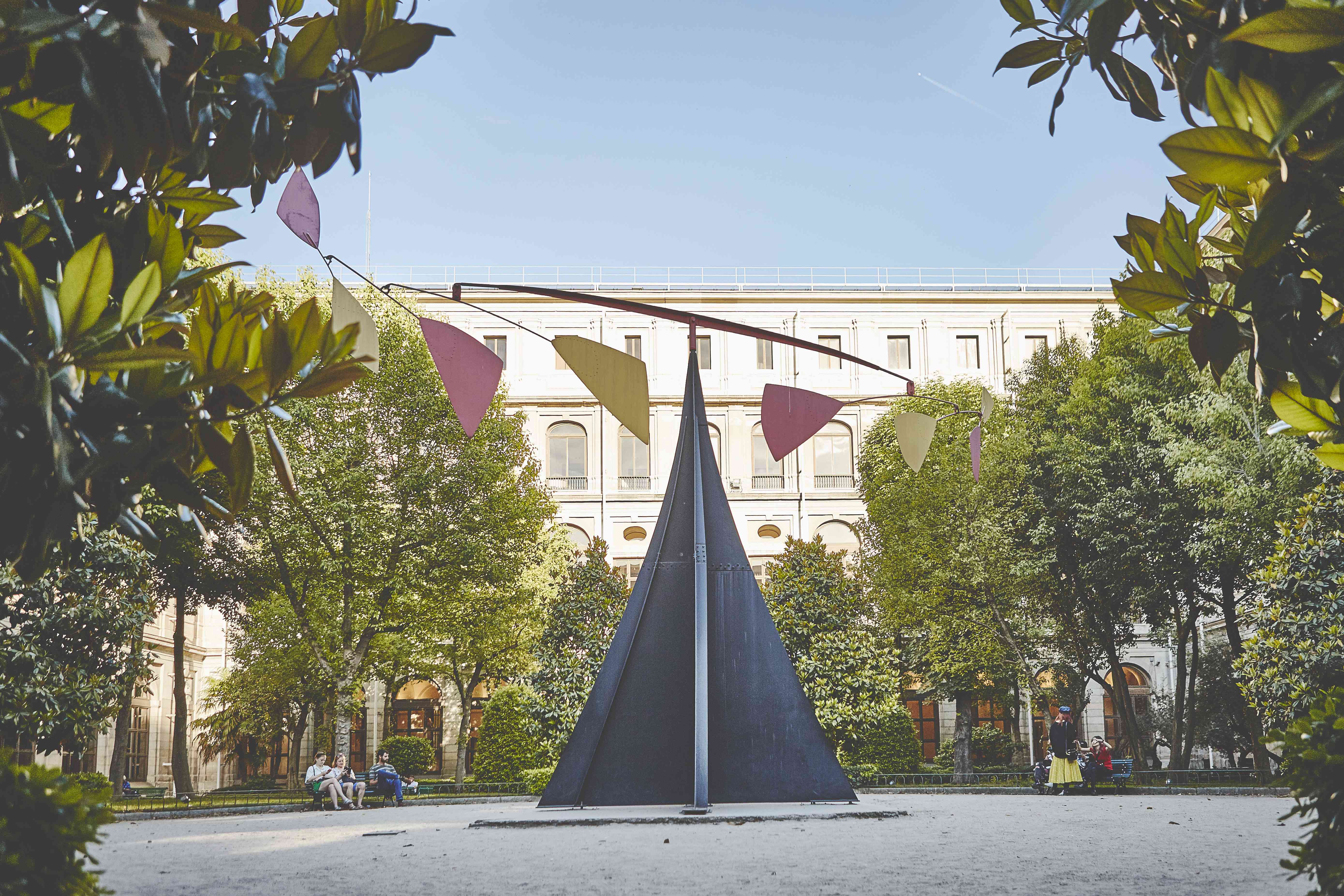 A large sculpture in the garden at Reina Sofia