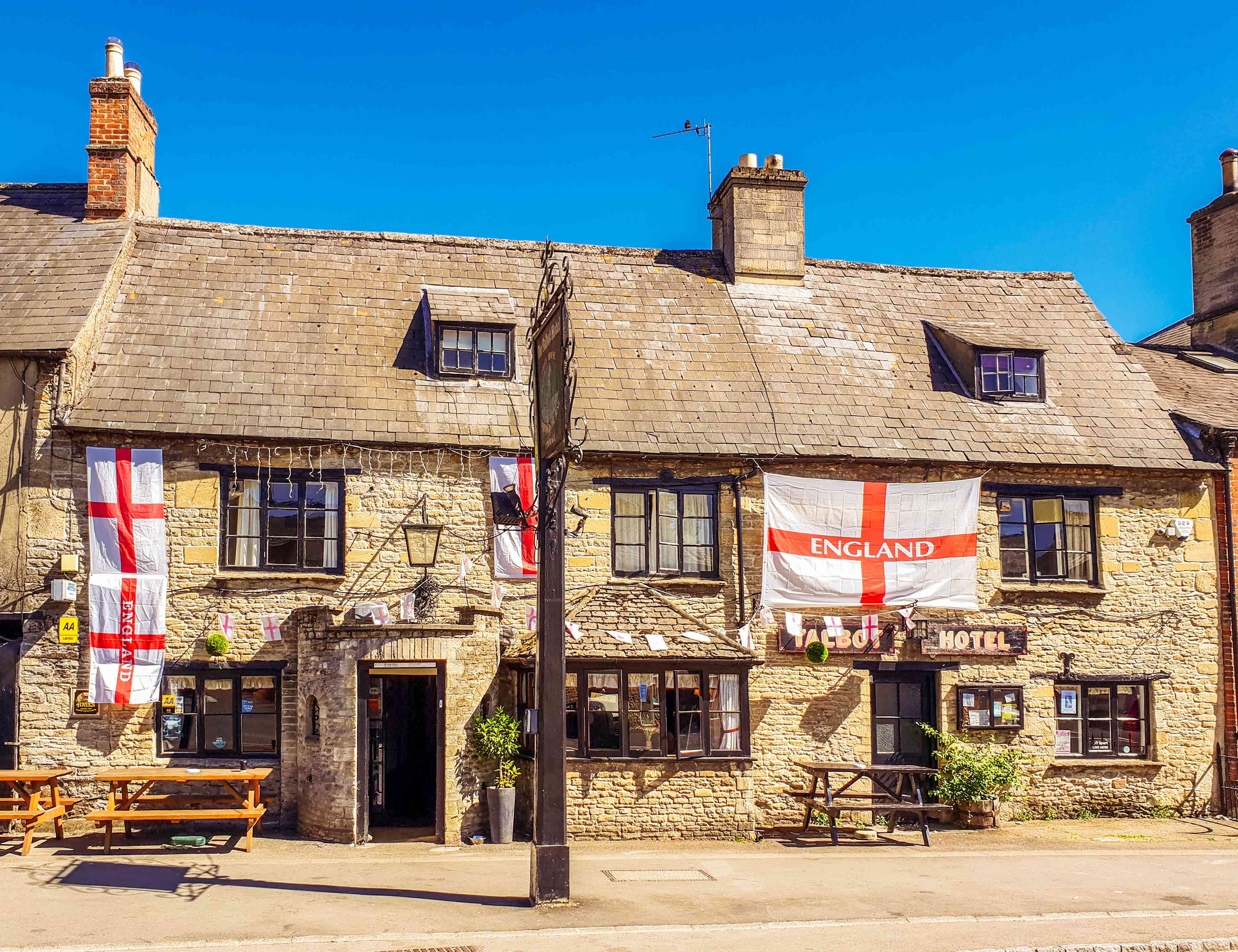 Traditional English pub in the Cotswolds