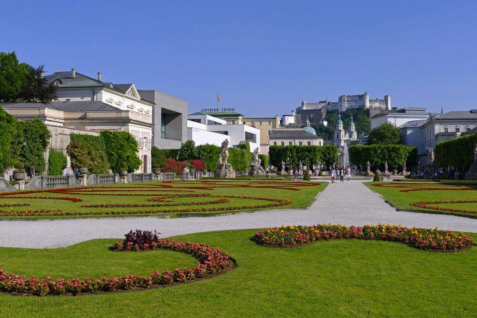 gardens of Mirabell Palace in Salzburg austria