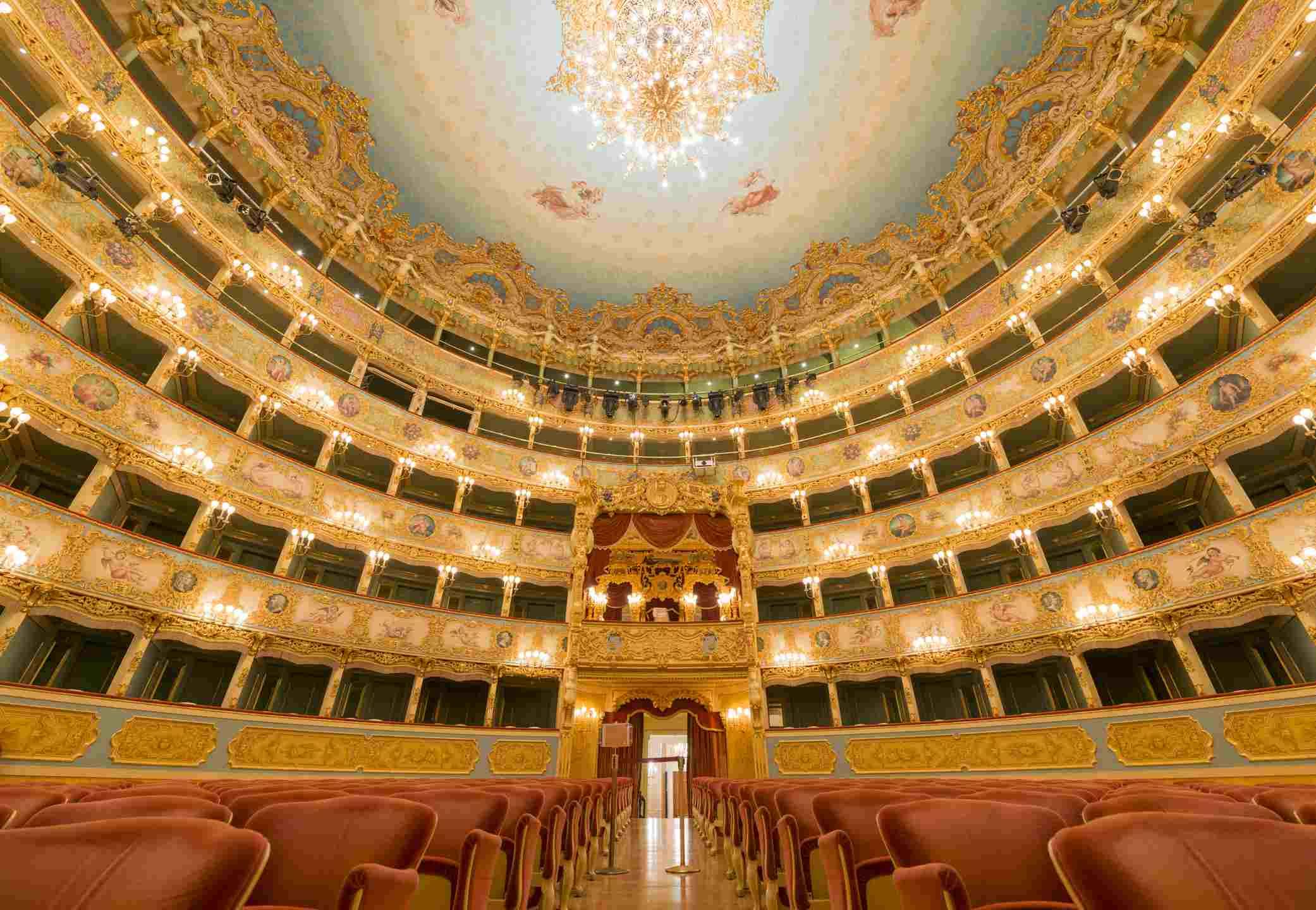 Gran Teatro La Fenice with king balcony in Venice Italy