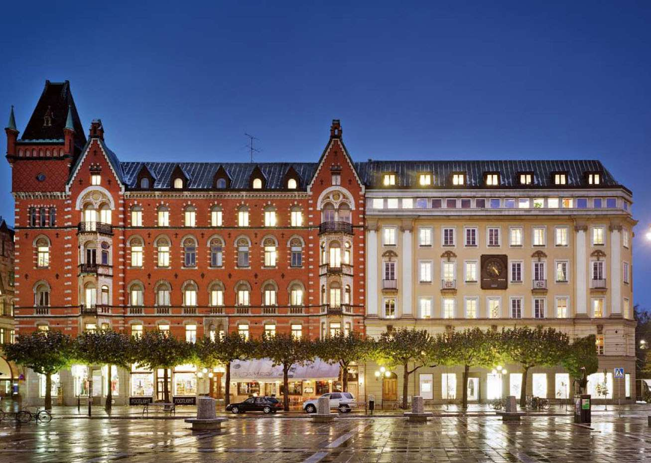 Nobis Hotel, now a luxury hotel, was the site of the Stockholm Syndrome bank robbery