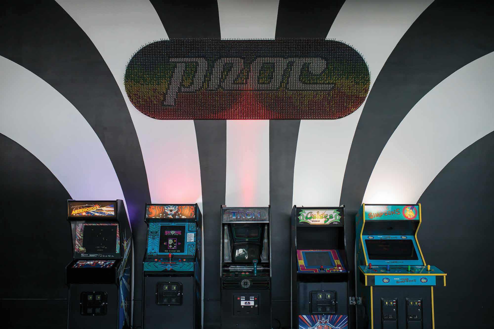 Proclamation Ale Company's arcade wall