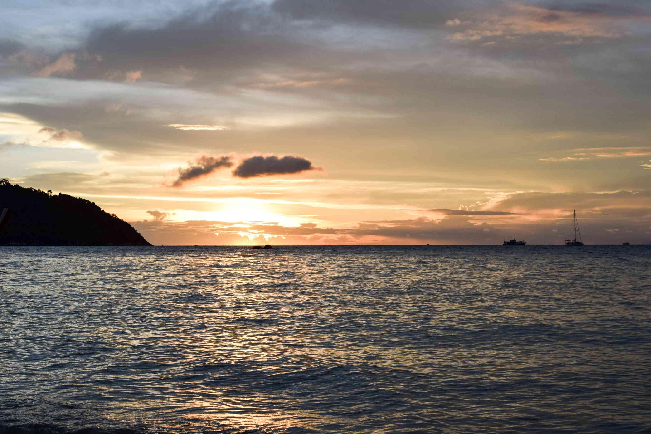 Sunset off the coast of Koh Lipe