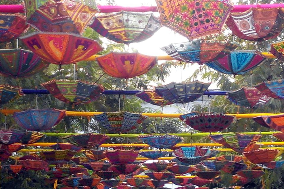 Colourful Entrance at Jaipur Literature Fest 2014