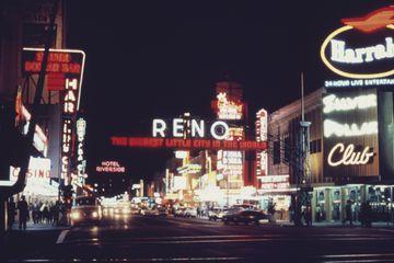 Reno, Nevada, at night