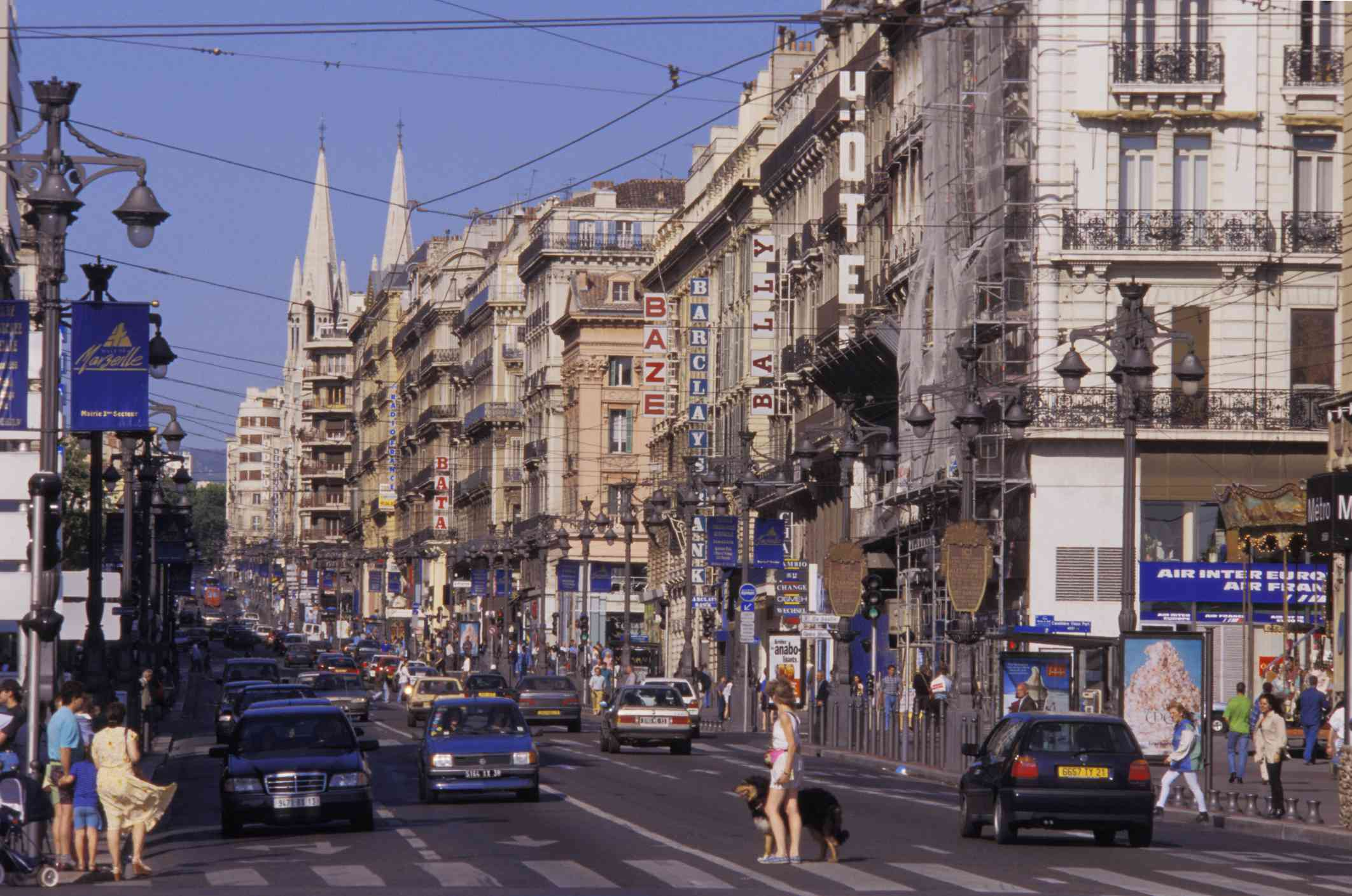Canebière Avenue in Marseille, France