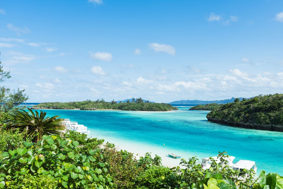 Tropical lagoon islands, Ishigaki, Okinawa, Japan