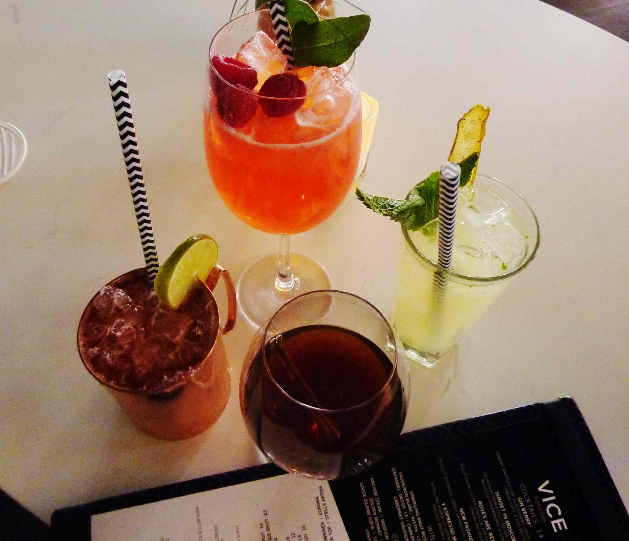 Cocktails at Vice Versa at Vdara Las Vegas